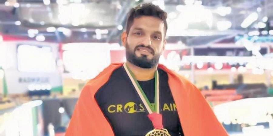 Siddharth Singh after winning the silver medal at the World's Masters Jiu Jitsu Championship 2021
