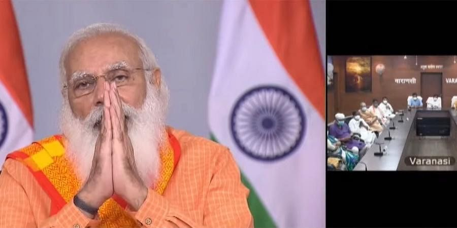 Prime Minister Narendra Modi interacts the doctors and frontline workers on COVID-19 situation in Kashi