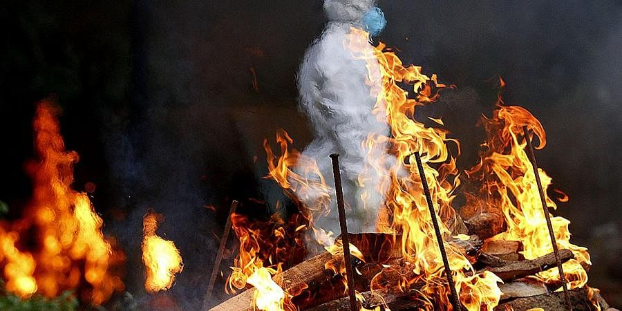 Cremation, Covid death, Kerala