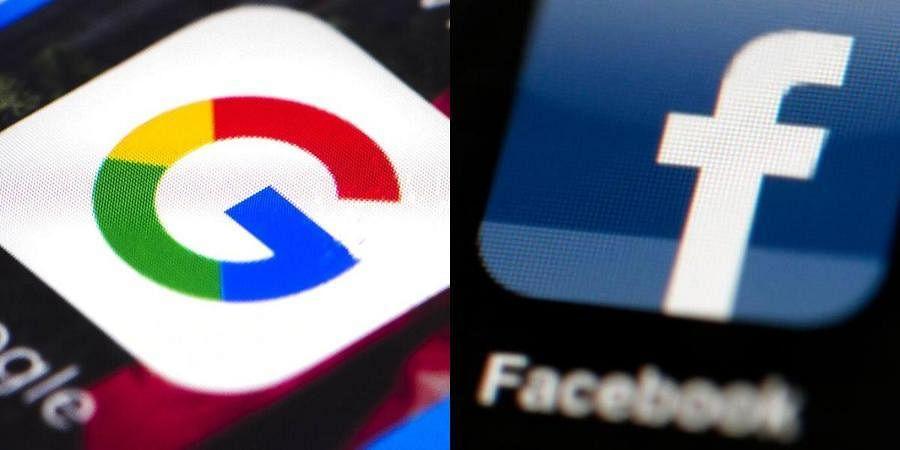 Google and Facebook logos