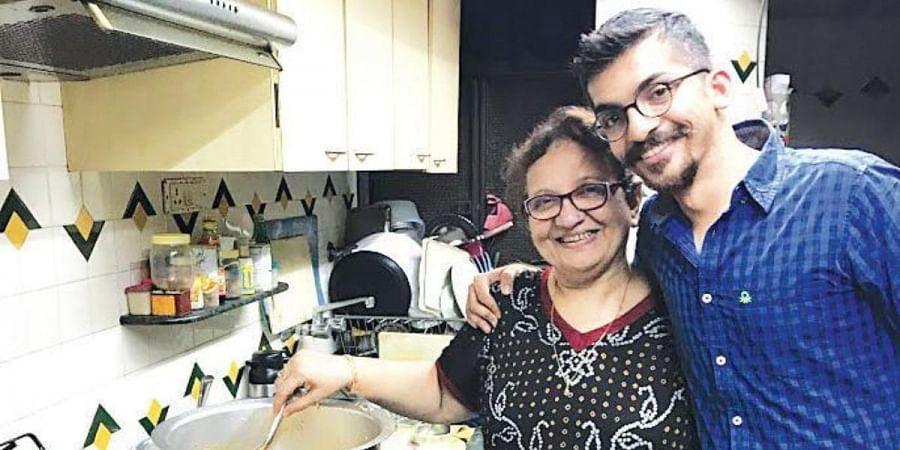 Munaf Kapadia with his mother