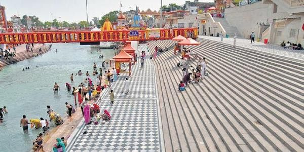 Har Ki Pauri Ghat in Haridwar saw a drop in the number of pilgrims