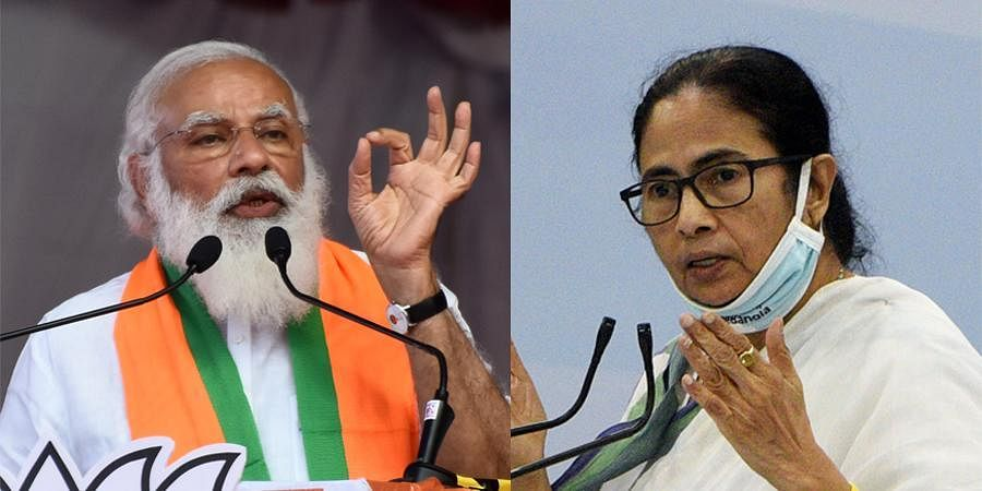 PM Narendra Modi and Bengal CM Mamata Banerjee (Photos | PTI)
