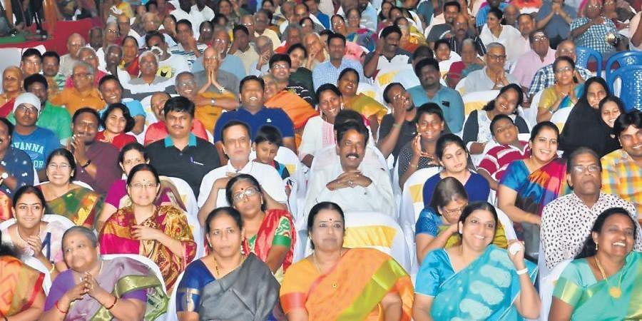 Audience at Chennai Humour Club.