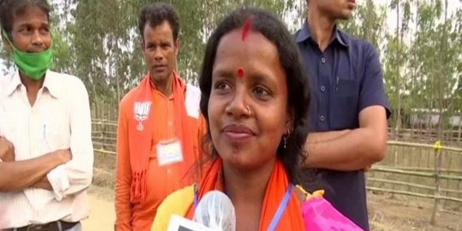 BJP's Saltora constituency candidateChandana Bauri