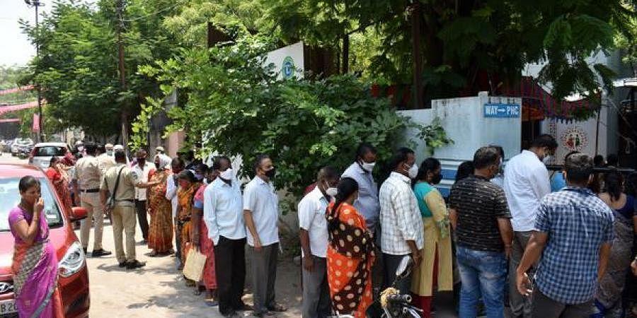 vaccine queue