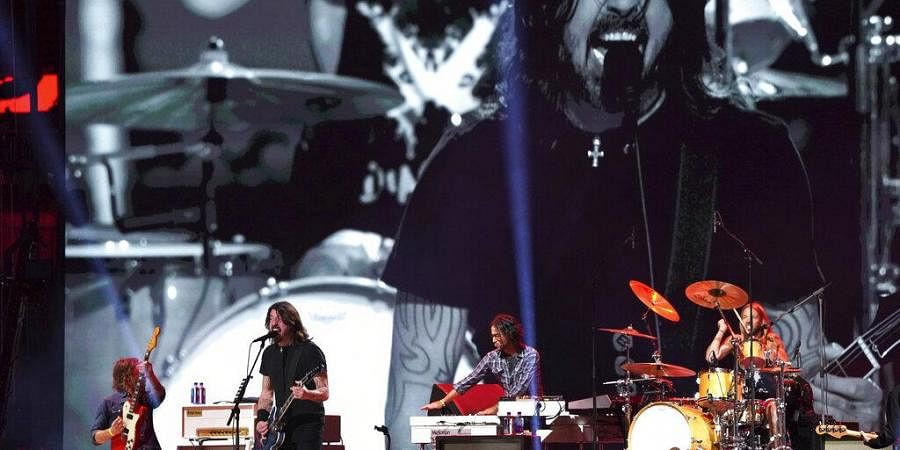 The Foo Fighters perform at 'Vax Live: The Concert to Reunite the World'