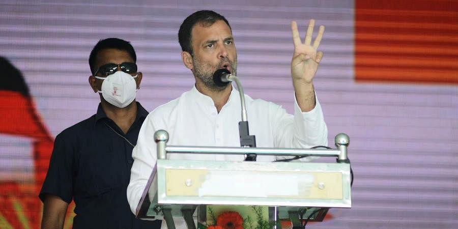 Congress leader Rahul Gandhi speaks during an election campaign in Chennai. (Photo   Debadatta Mallick, EPS)