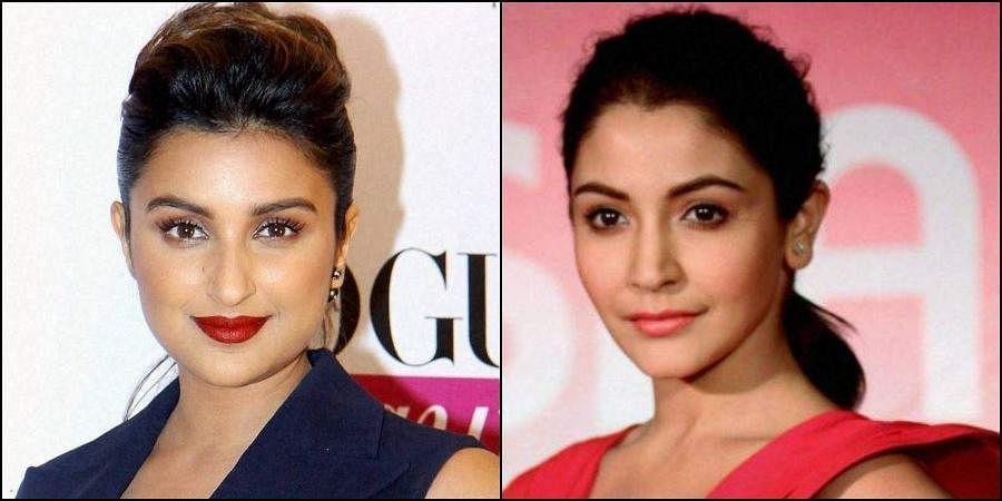 Actresses Parineeti Chopra (L) and Anushka Sharma (R) (Photos | PTI)