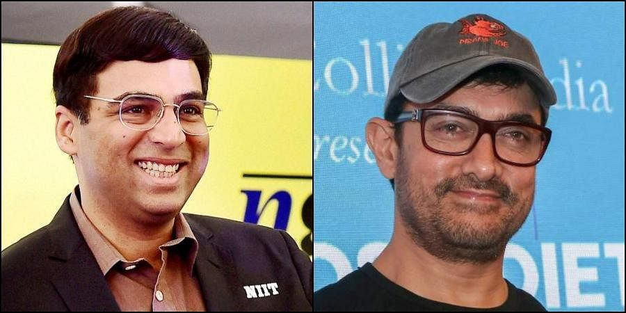 Indian chess grandmaster Viswanathan Anand (L) and actor Aamir Khan (R) (Photos   PTI)