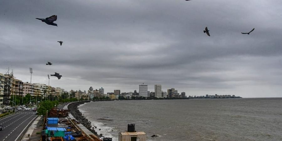 Dark clouds hover over Nariman Point, Churchgate area, in Mumbai, Thursday, June 10, 2021.