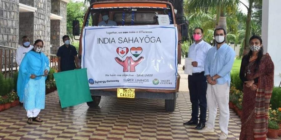 Uttarakhand governor Baby Rani Mourya flags off the 'India Sahayoga' initiative