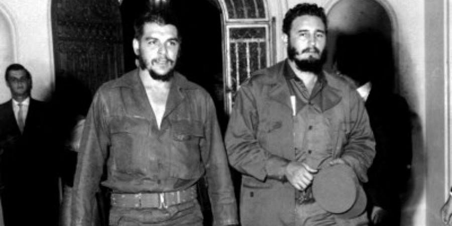 This 1963 file photo shows Argentine-born legendary revolutionary figure Ernesto 'Che' Guevara (L) with Cuban leader Fidel Castro (R) in Havana's famous '1830' restaurant four years after he and Fidel Castro led the revolution that toppled Cuban dictator Fulgencio Batista.