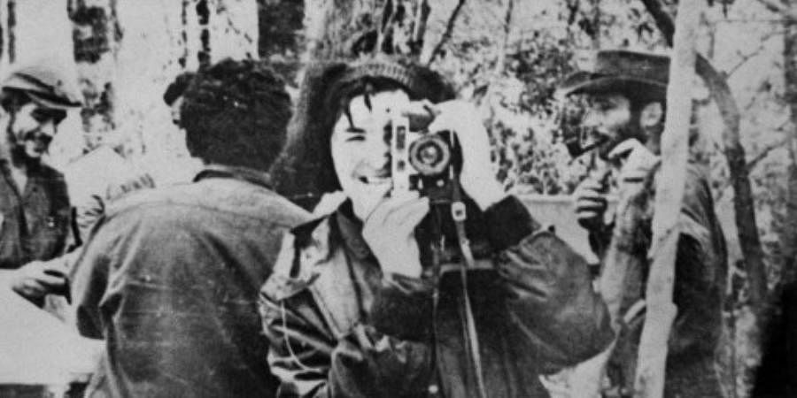 File picture taken in 1967 near Nancahuazu in Bolivia, shows Ernesto 'Che' Guevara comrade 'tania' taking a picture, as he was trying to organize the revolution in Bolivia.