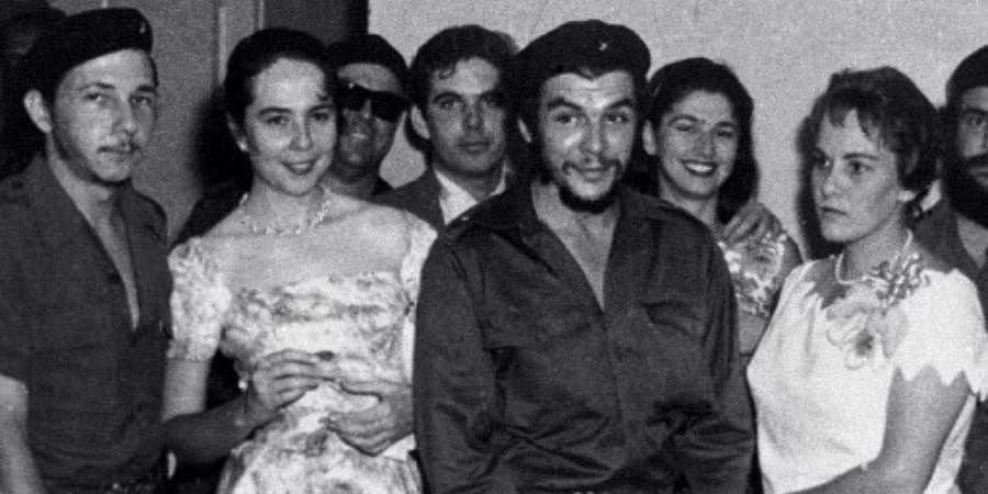 Vilma Espin (2-L) and her husband current Cuban acting President Raul Castro (L), attend the wedding of revolutionary leader Ernesto 'Che' Guevara (2-R) and Aleida Guevara (R) in 1959 in Havana.