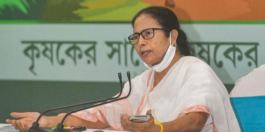 West Bengal Chief Minister Mamata Banerjee speaks during a press conference in Kolkata, Thursday, June 17, 2021.