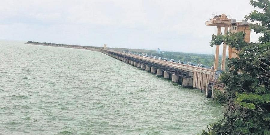 The Sri Ram Sagar Project (SRSP) in Nizamabad district brimming with water as the project continues to get heavy inflows from upstream areas in Maharashtra (File Photo)