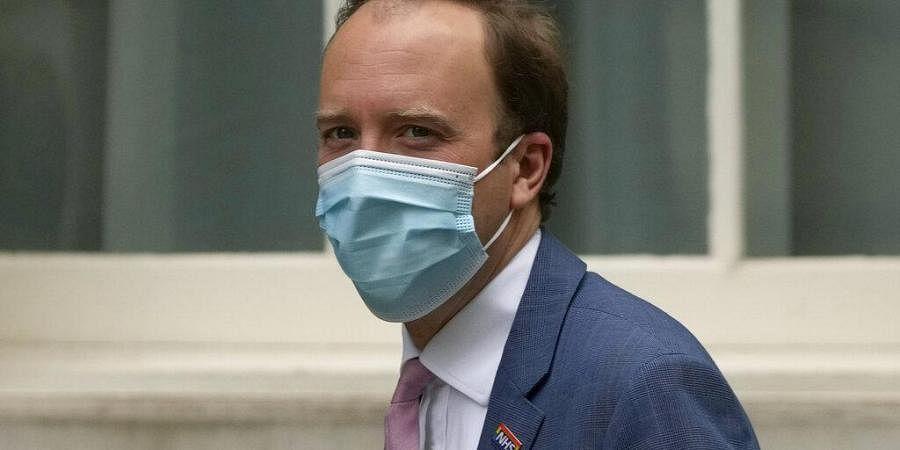 Britain's Health Secretary Matt Hancock arrives at Downing Street in London