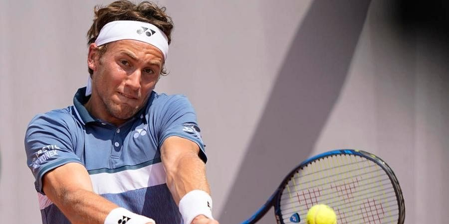 Casper Ruud broke Gilles Simon's serve twice and won 80 per cent of his first-service points to advance atMallorca Championships.
