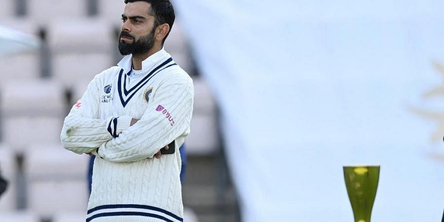 India's Virat Kohli reacts before the presentation after defeat against New Zealandon final day of WTC Final at Ageas Bowl, Southampton, England on June 23, 2021.