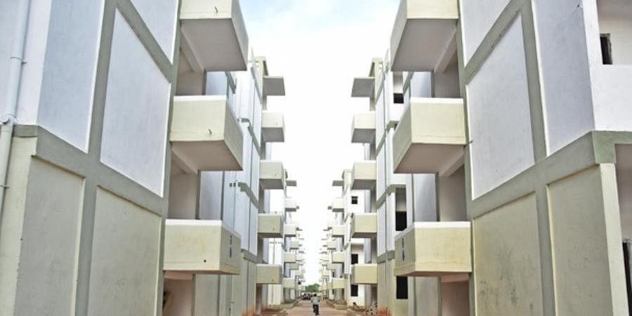 apartments, buildings, houses