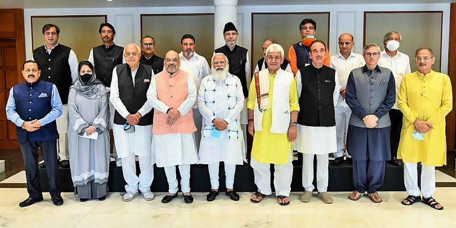 PM Narendra Modi during the all-party meeting in Delhi