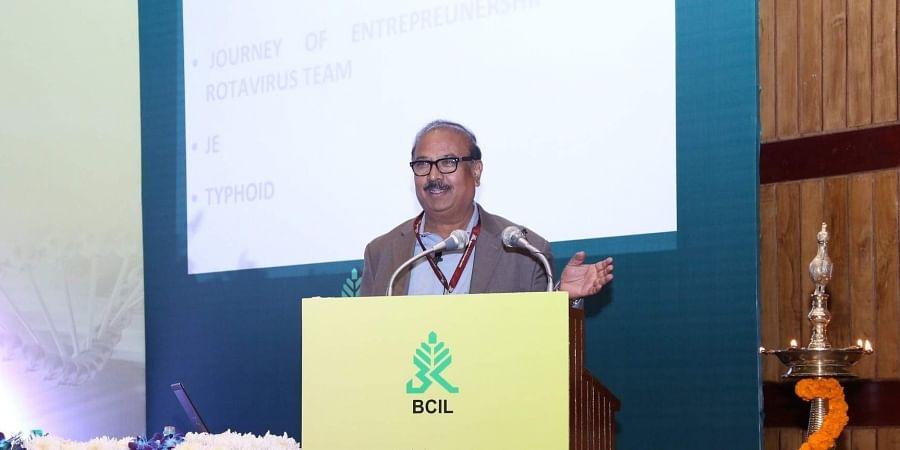 Krishna Ella, Chairman and MD, Bharat Biotech International Limited (Photo | Biotech4India, Twitter)