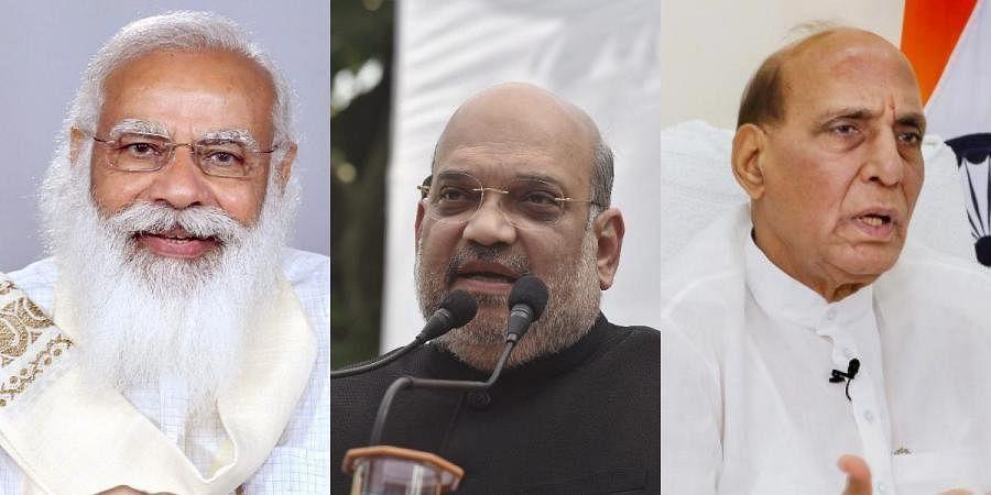 PM Narendra Modi, Amit Shah and Rajnath Singh