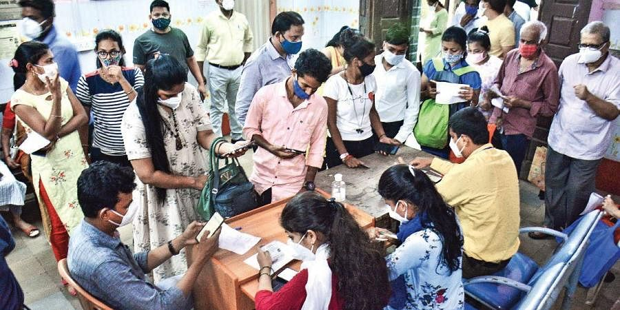 Registration for Covid-19 vaccination in Thane.