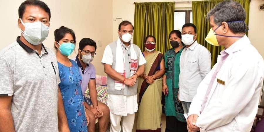 CM Himantamet Senapati at the Gauhati Medical College and Hospital