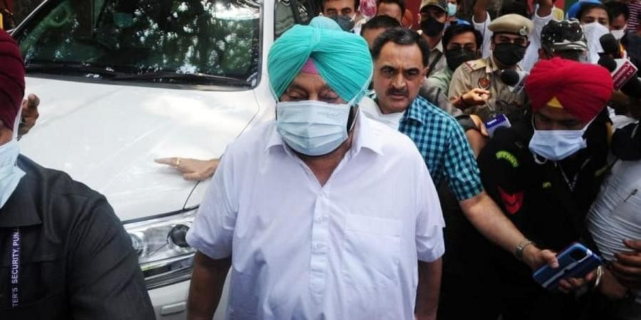 Punjab CM Amarinder Singh leaves after a meeting with three-member All India Congress Committee (AICC) panel in New Delhi