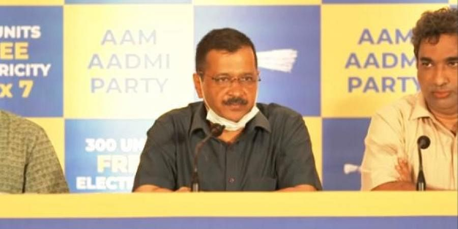 Kejriwal slammed MLAs who left Congress and other parties to join the BJP after last Assembly elections in Goa. (Photo   Twitter screengrab)