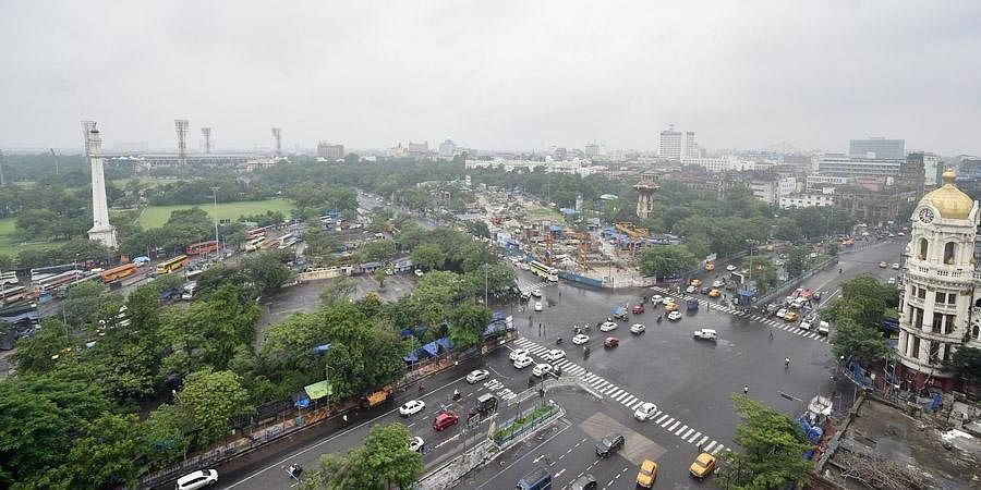 City traffic plys on the street after authority eased some restrictions and extended Covid induced lockdown till 30th June, in Kolkata. (Photo | PTI)