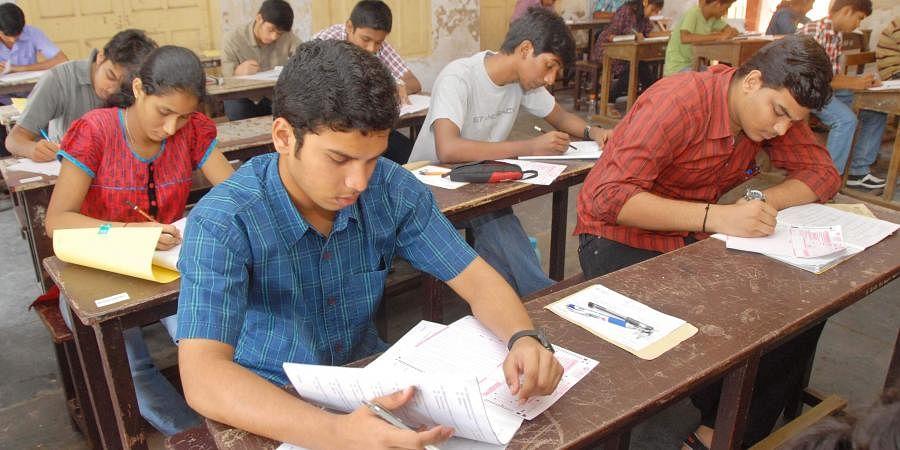 entrance test, students