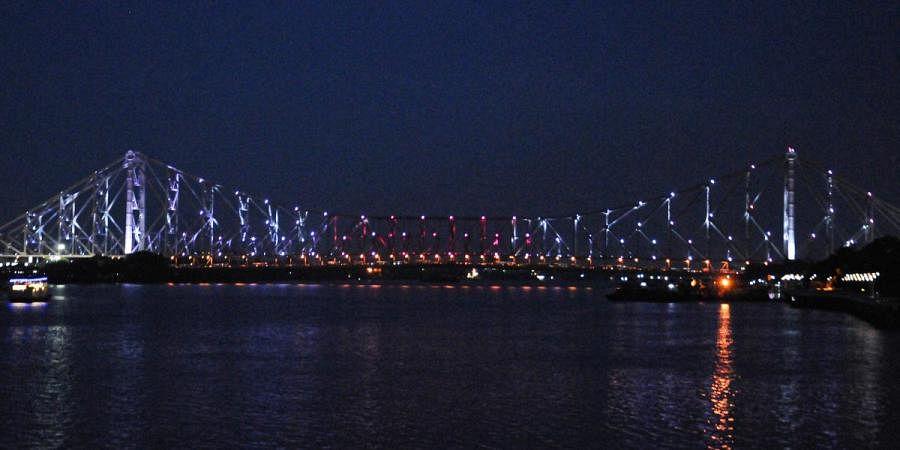 Howrah Bridge in Kolkata lights up in Olympic colours