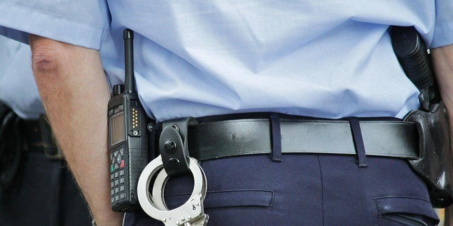 handcuff, arrest, police