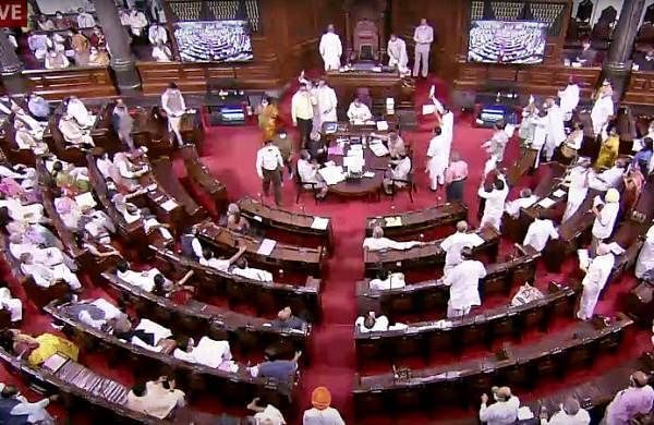 Rajya Sabha proceedings adjourned amid protest by Opposition MPs