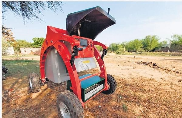 Robot to rescue:GPS-enabled, waterproof, all-terrain equipment is decloging manholes- The New Indian Express
