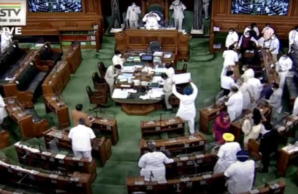 Opposition protests over Pegasus snooping case continue to disrupt Lok Sabha proceedings