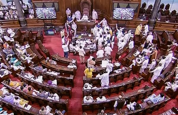Rajya Sabha adjourned till 12 noon after opposition presses for discussion on Pegasus