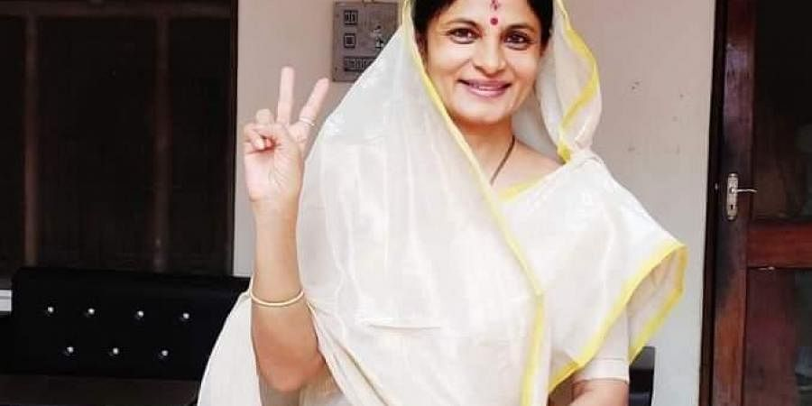Newly elected Jaunpur district panchayat chairperson Srikala Reddy