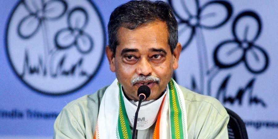 Former Congress MP Abhijit Mukherjee addresses the media after joining Trinamool Congress