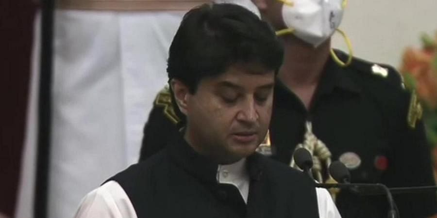 Newly-inducted Union minister JyotiradityaScindia