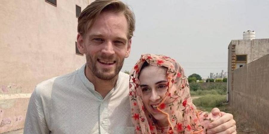 Karl Edward Rice, a New Zealand citizen, and his Indian wife Manisha Malik.