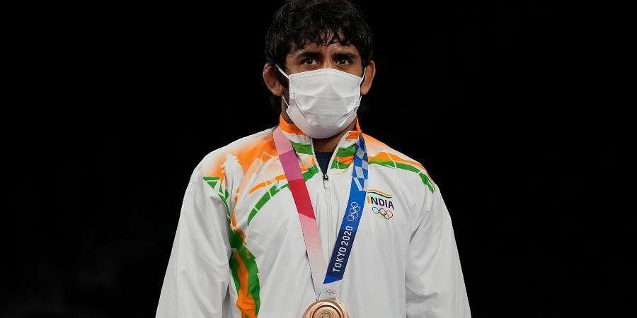 Tokyo Olympics: India celebrates wrestler Bajrang Punia's wrestling  bronze- The New Indian Express
