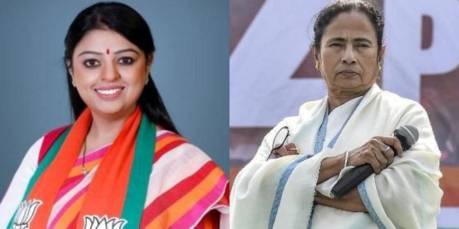 Priyanka Tibrewal (L) and Chief Minister Mamata Banerjee (R)