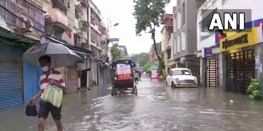 The Met department has forecast more heavy rain or thunderstorms till Tuesday morning in most districts of south Bengal, including in Kolkata. (Photo   ANI Twitter)