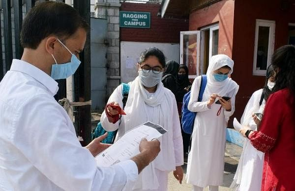 Srinagar schools reopen for classes 10, 12 with COVID-19 protocols in place